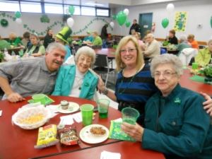 Seniors celebrating St. Patrick's day.