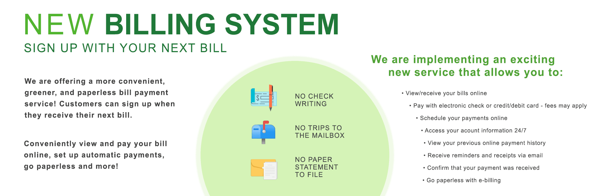 New Billing System Website Graphic