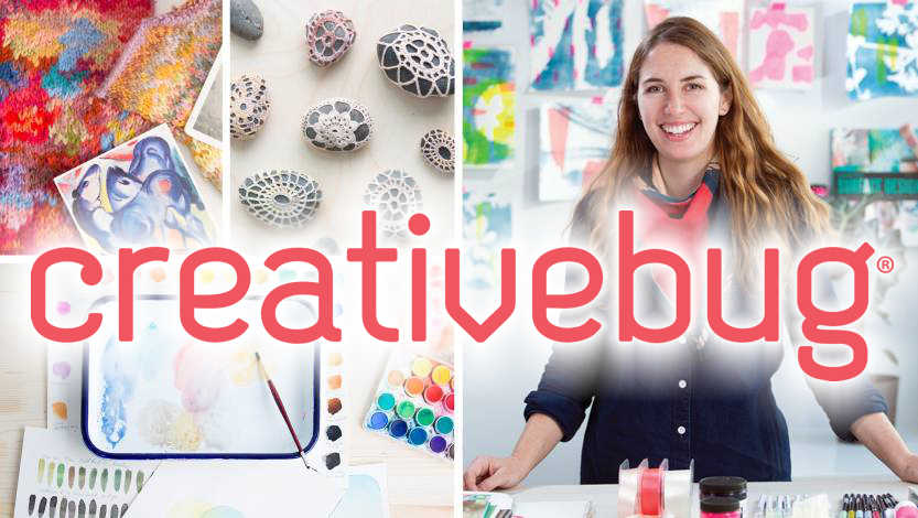 creativebug craft videos logo and link