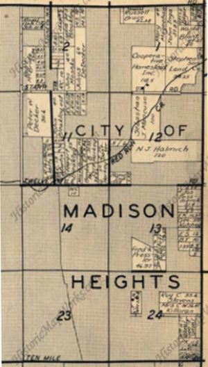 Older Map of Madison Heights